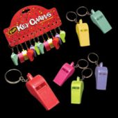 Plastic Whistle Keychains