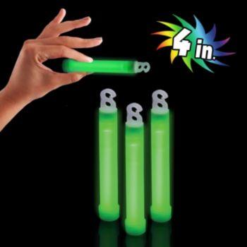 Premium Green Glow Sticks - 4 Inch, 50 Pack