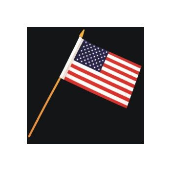 "AMERICAN CLOTH  FLAGS  4"" x 6"""