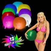 "12"" Glowing Beach Ball - Variety of Colors"