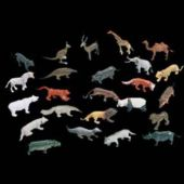 Wild Animals Plastic Figures - 144 Pack
