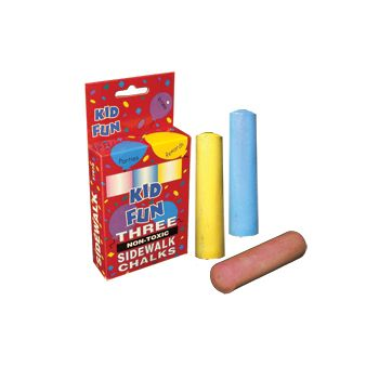 "4""  SIDEWALK  CHALK -  3 pc box"