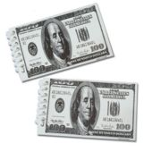 $100 Dollar Bill Spiral Notebook-12 Pack