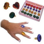 Costume Jewel Rings - 12 Pack