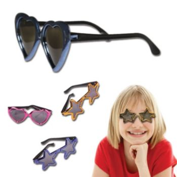 "5""  METALLIC  SUN  GLASSES,  Child Size"