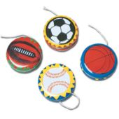 "Assorted Sports 2"" Yo Yos - 12 Pack"