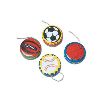 Metal Yo Yo with Soccerball Baseball Basketball or Football