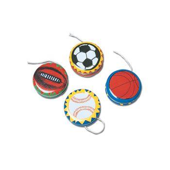 Metal Yo Yo with Soccerball Baseball Basketball or Football
