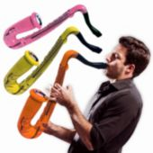 Inflatable Saxophones - 24 Inch, 12 Pack