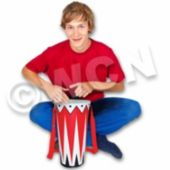 Inflatable Bongo Drums - 14 Inch, 12 Pack