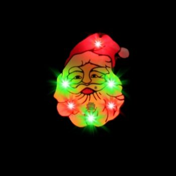 Flashing Santa Claus LED Blinkies - 12 Pack
