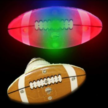 Flashing Football LED Blinkies - 12 Pack
