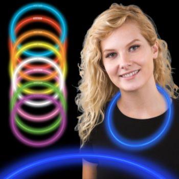 22 Inch Blue Supreme Glow Necklaces