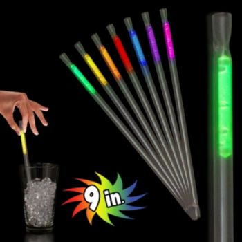 Assorted Color Motion Glow Straws - 9 Inch, 25 Pack