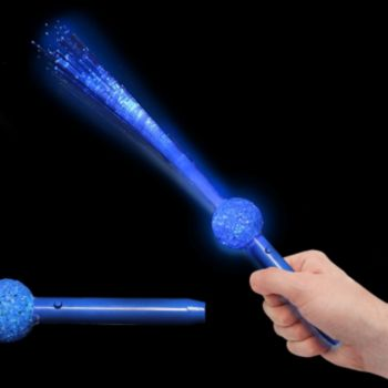 Blue Fiber Optic LED Wands - 15 Inch, 12 Pack