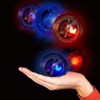 Flashing Blue LED Balls - 12 Pack