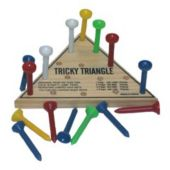 Tricky Triangle Skill Game Golf Tee Game