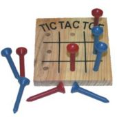 3 Inch Wooden Tic Tac Toe Game