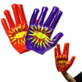 Inflatable High Five Hands - 15 Inch, 12 Pack