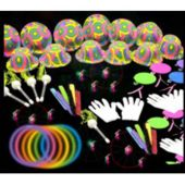 Neon Party Fun Pack Includes 388 Pieces Of Glow Bracelets