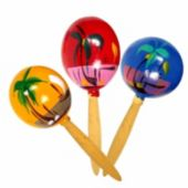 Hand Painted Party Maracas-12 Pairs Per Pack