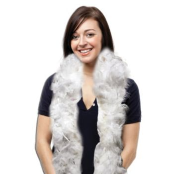 White Feather Boa - 6 Foot
