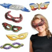 Sequin Masks - 12 Pack