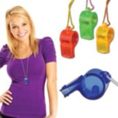 Plastic Whistle Necklace-12 Pack