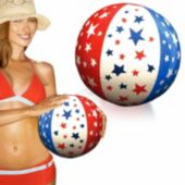 "Patriotic Stars Beach Balls - 16"", 12 Pack"