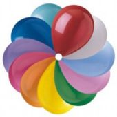 "Assorted Color Latex 12"" Balloons - 100 Per Unit"