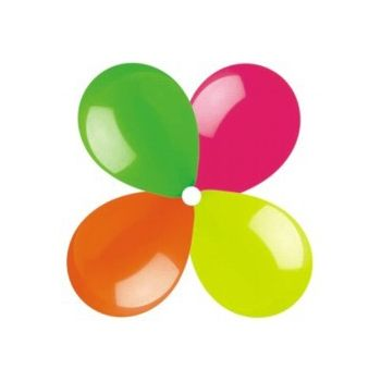 Assorted Neon Colors Latex Balloons - 12 Inch, 100 Pack