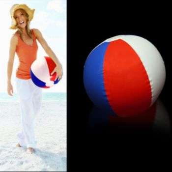 Inflatable Patriotic Beach Ball - 16 Inch, 12 Pack