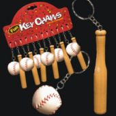 Baseball And Bat Keychains