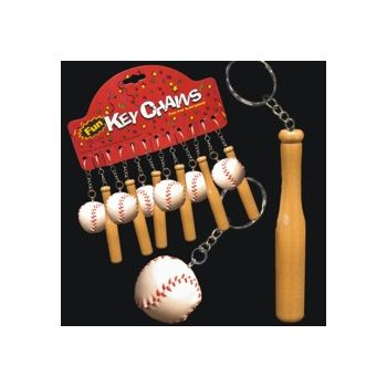 BASEBALL &  BAT   KEY CHAINS
