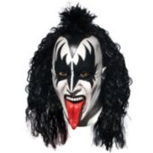 KISS Demon Deluxe Latex Full Mask With Hair (Adult)