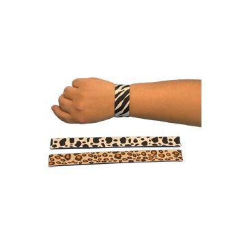 "Animal Print  9"" Slap Bracelets"