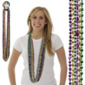 Mardi Gras Bead Necklaces - 48 Inch, 12 Pack