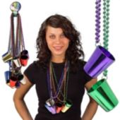 "Shot Glass Necklaces-33""-12 Pack"