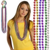 Multi-Color Bead Necklaces - 33 Inch, 12 Pack