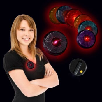 Flashing Assorted Color LED Reflectors - 2 Inch, 12 Pack