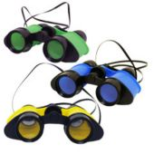 "Assorted Color 4 1/2"" Binoculars - 12 Pack"