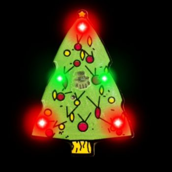 Flashing Christmas Tree LED Blinkies - 12 Pack
