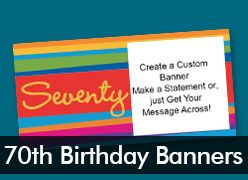 70th Birthday Custom Banners