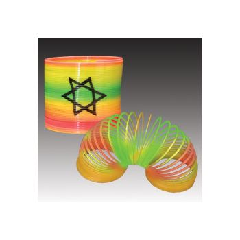 RAINBOW  SPRING  TOY    STAR  OF  DAVID  LOGO