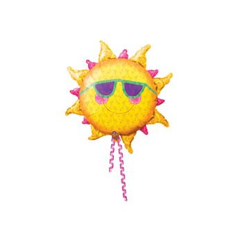 Prismatic Sun Shaped Metallic Balloon - 24 Inch