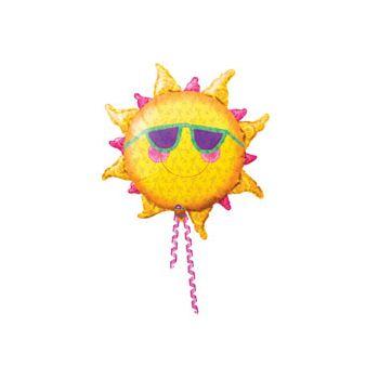 Prismatic Sun Shaped Metallic Balloon - 24 Inch