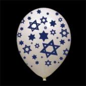 14'' STAR OF DAVID  WHITE LATEX BALLOONS