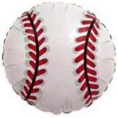 Baseball Metallic Balloon - 18 Inch