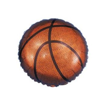 Basketball Metallic Balloon - 18 Inch