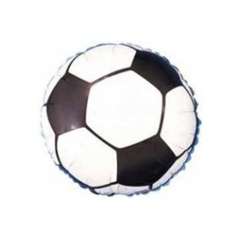 Soccer Ball Metallic Balloon - 18 Inch